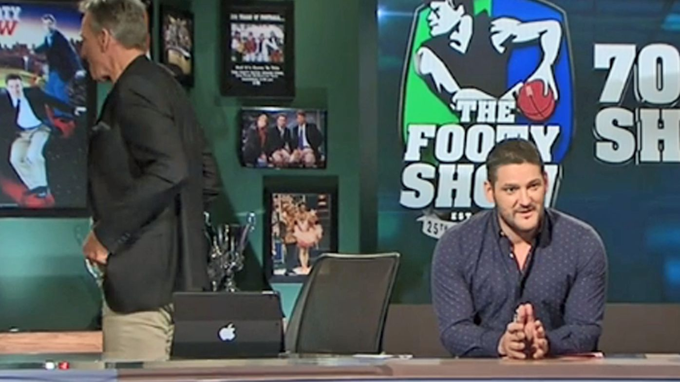 Sam Newman and Brendan Fevola