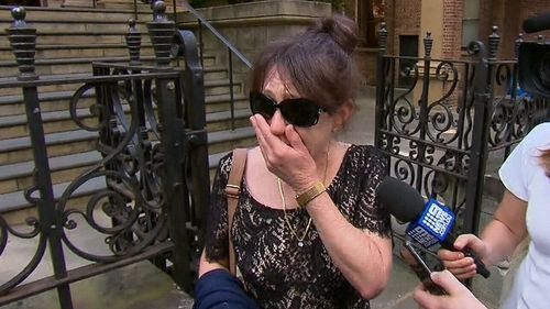Liam Anderson's mother was emotional outside court today.