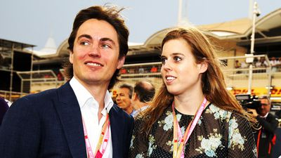 Princess Beatrice and Edoardo Mapelli Mozzi at the Bahrain Grand Prix, April 2019