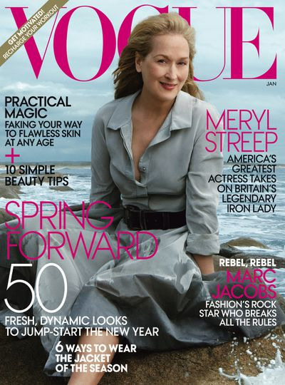 Meryl Streep on the cover of <em>Vogue </em>in 2012.&nbsp;