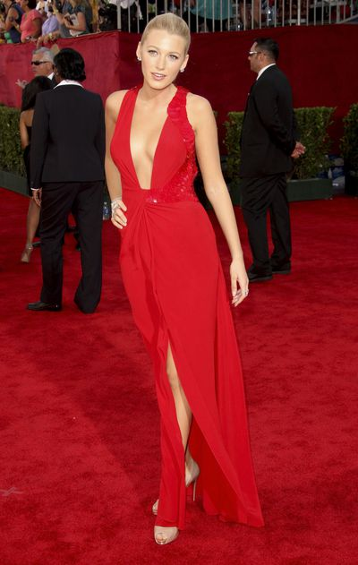 Blake Lively in Versace at the 61st Emmy Awards in Los Angeles in September, 2009
