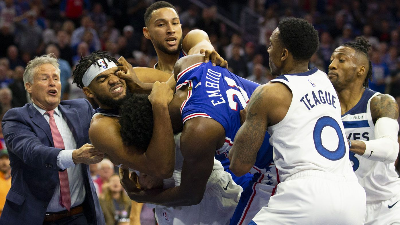 'A p---y your whole life': Sparks fly on social media between Joel Embiid and Karl-Anthony Towns after wild brawl