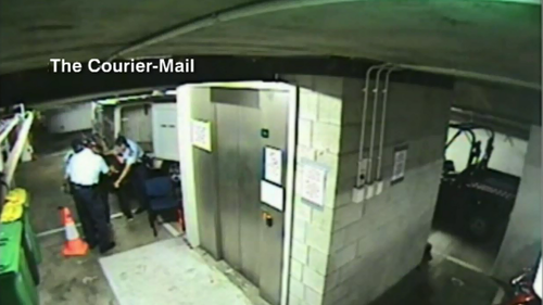 Footage of an alleged 2012 police bashing was leaked to The Courier-Mail.