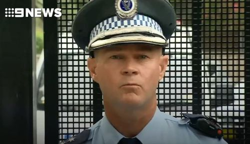 NSW Police duty officer Geoff Olsen addresses the media. (9NEWS)