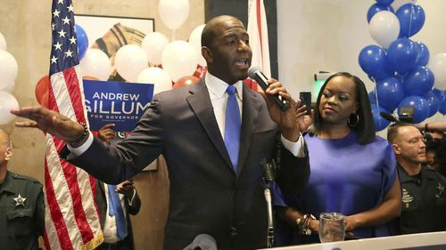 Democratic gubernatorial candidate Andrew Gillum during his primary victory speech.