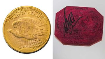The world's most valuable coin and stamp.