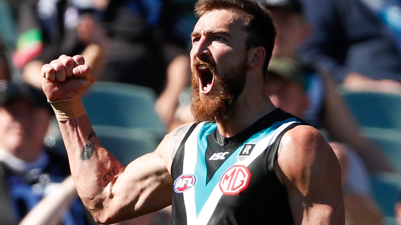 Charlie Dixon issues emphatic response to trade rumours in Port Adelaide win over Sydney