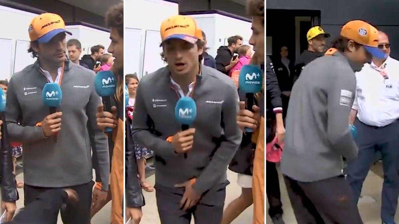 Aussie F1 driver Daniel Ricciardo crashes live TV interview with cheeky 'low blow'