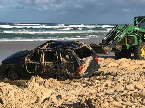 It took three hours to recover the car. (Supplied)