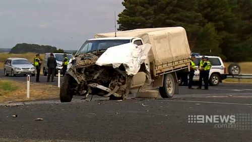 The ute, driven by 65-year-old Alexander Wooldridge, failed to give way, causing a truck to smash into the oncoming 4WD. (9NEWS)