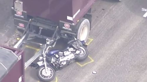 The rider died at the scene. (9NEWS)