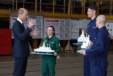 Before leaving the shipyard, William was given three models of HMS Belfast for his kids - Prince George, Princess Charlotte and Prince Louis.