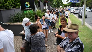 Centrelink queues on the Gold Coast