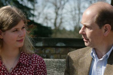 Lady Louise Windsor with her father Prince Edward, Earl of Wessex