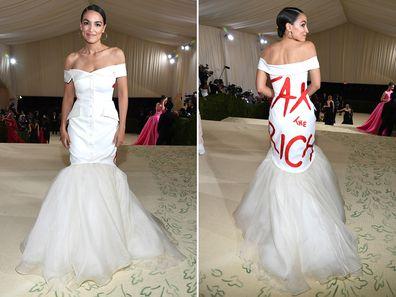Alexandria Ocasio-Cortez at the 2021 Met Gala
