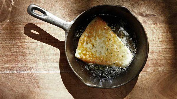 The Apollo's saganaki cheese honey oregano