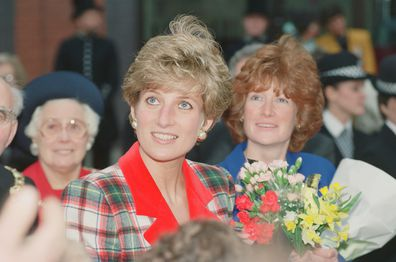 The Princess of Wales, Princess Diana, visits Didsbury and Wigan in the North West of England.