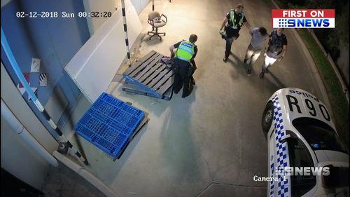 The burglary unfolded on Saturday night.