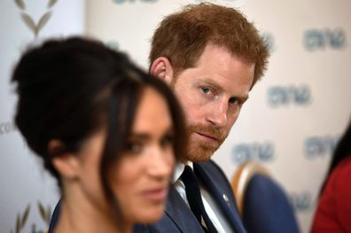 The Duke and Duchess of Sussex attend a roundtable discussion on gender equality with the Queen's Commonwealth Trust and One Young World at Windsor Castle. PA Photo. Picture date: Friday October 25, 2019. See PA story ROYAL Sussex. Photo credit should read: Jeremy Selwyn/Evening Standard/PA Wire