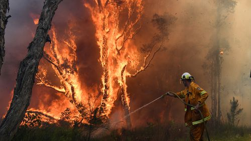 The downgrade comes after the blaze scorched more than 1600 hectares of land amid 90km/h wind gusts yesterday.