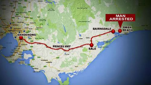 The alleged gunman led police on high-speed pursuit through regional Victoria. (9NEWS)