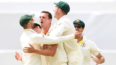 Brilliance from Hazlewood leaves England two-down early