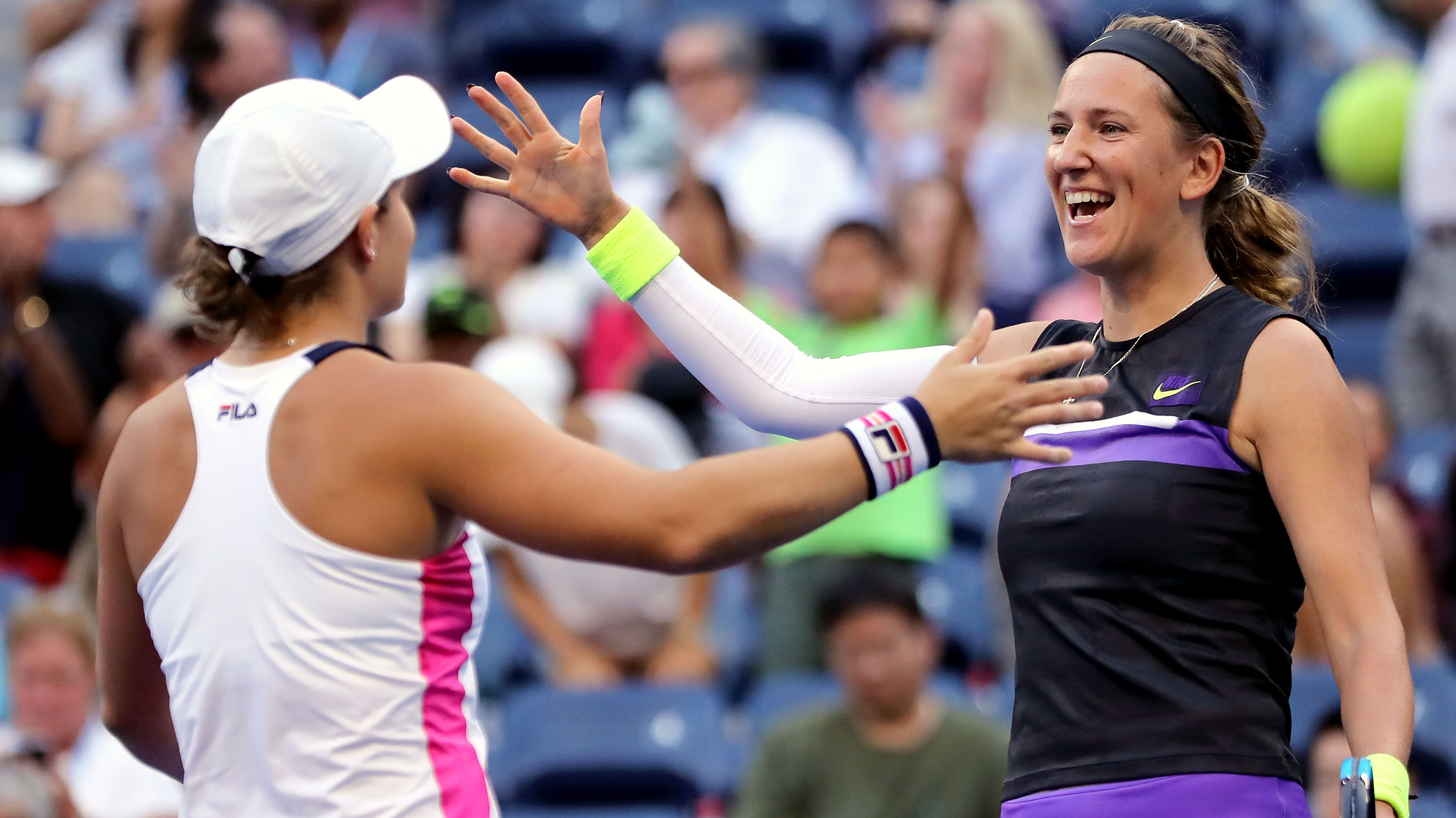 Ash Barty and Victoria Azarenka