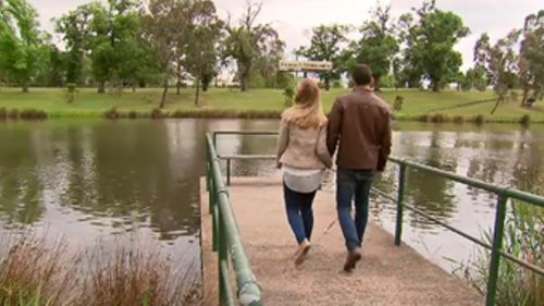 """""""I can't work out what it was but it was just very obvious I needed to have Ben in my life,"""" Ms Savage said. (9NEWS)"""