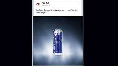 Red Bull also took advantage of the scandal to promote their own beverage. (Red Bull)