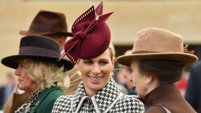 Zara Tindall, Camilla Duchess of Cornwall and Princess Anne attend day two of Cheltenham Races 2020