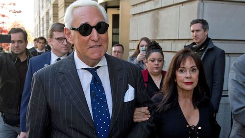 Roger Stone, a longtime showman, political strategist and friend of President Donald Trump's, was sentenced Thursday to 40 months in prison