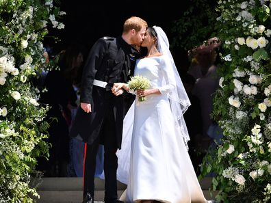 Meghan Markle's wedding dress display