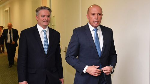 Mathias Cormann, a supporter of Peter Dutton, denied helping engineer the coup against Mr Turnbull.