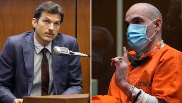 Ashton Kutcher testifies during the trial of Michael Thomas Gargiulo.
