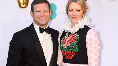 Dermot O'Leary and Edith Bowman attend the EE British Academy Film Awards at Royal Albert Hall on February 10, 2019 in London, England