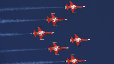 The Patrouille Suisse.