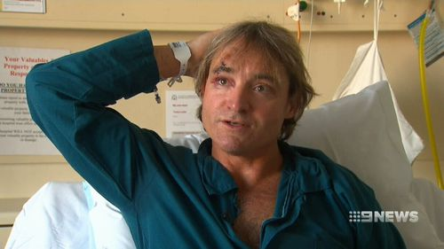 He has suffered a fractured skill and bleeding to the brain. Picture: 9NEWS