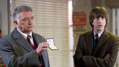 Inspector George Gently (Martin Shaw) and Bacchus (Lee Ingleby)