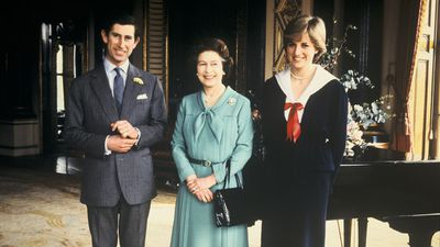 Lady Diana Spencer, Prince Charles and the Queen, 1980