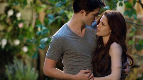 What split? Robert Pattinson and Kristen Stewart play happy families in new Twilight: Breaking Dawn pics