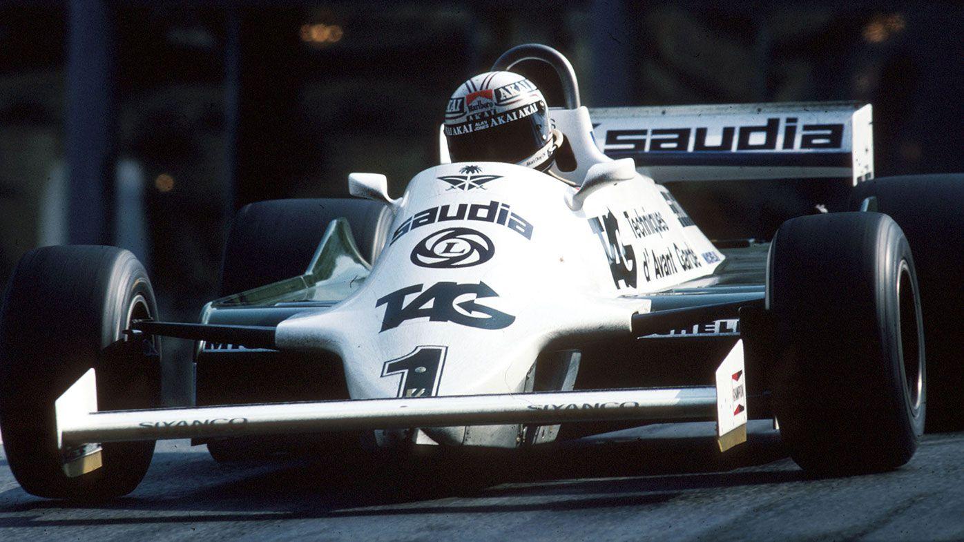 Alan Jones in action for Williams in 1981.