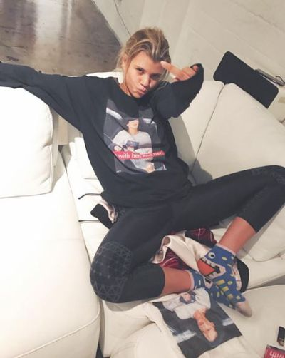 Sofia Richie in the Basedtla T-Shirt.