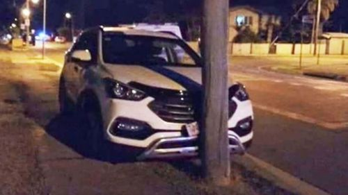 A man has allegedly chased teenagers through the streets of Townsville ending in a high-speed crash.