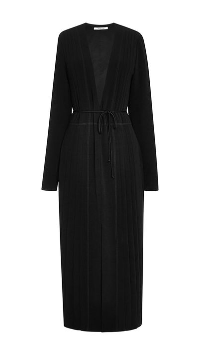 "<p><a href=""https://www.modaoperandi.com/derek-lam-10-crosby-r15/dress-with-deep-v-neck-and-side-seem-detail-in-black"" target=""_blank"">Dress, $255, Derek Lam at Moda Operandi</a></p>"