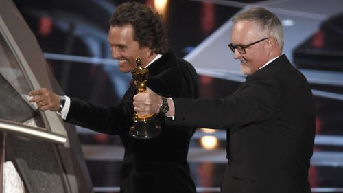 The win was Smith's first Oscar after two previous nominations. (AAP)