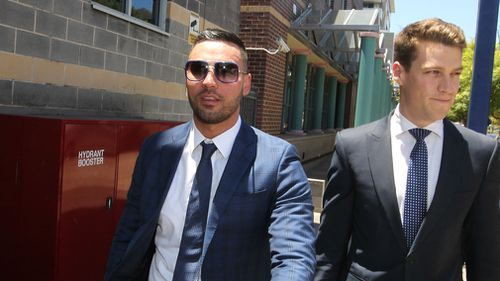 Former Auburn Deputy Mayor Salim Mehajer leaves the Burwood Local Court in Sydney on December 14, 2017. (AAP)