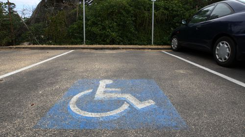Disabled parking spaces are indicated with a wheelchair sign which Ms Mockler says is not always helpful.