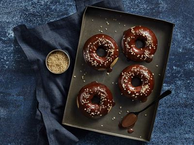 "Recipe: <a href=""http://kitchen.nine.com.au/2018/02/02/14/30/baked-coffee-donuts-with-crunchy-topping-recipe"" target=""_top"">Baked coffee donuts</a> with crunchy topping<br /> <br />"