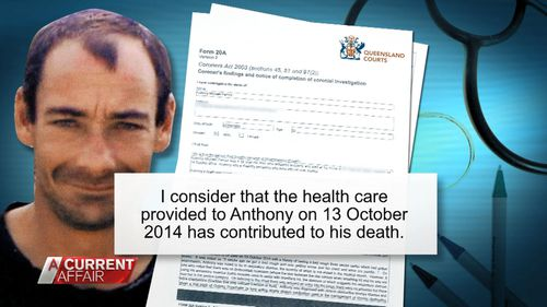 A coroner's report found the healthcare provided to Mr Parnell contributed to his death.