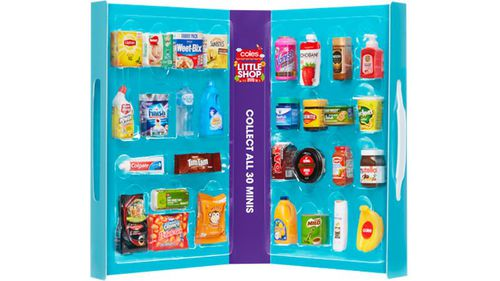 Coles has been forced to defend its 'Little Shop' plastic collectible items giveaway, saying its customers are keeping the products rather than throwing them away. Picture: Supplied.